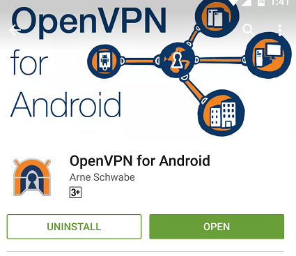 Setting up Android with OpenVPN using a 3rd party App by