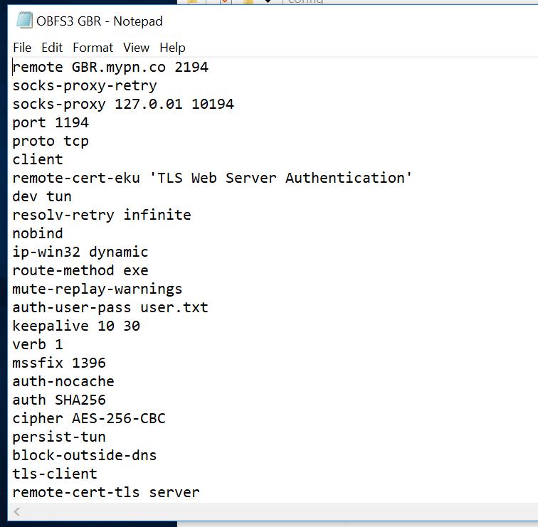 Windows 10 - Obfuscation using OpenVPN and obfsproxy / obfs3 | My