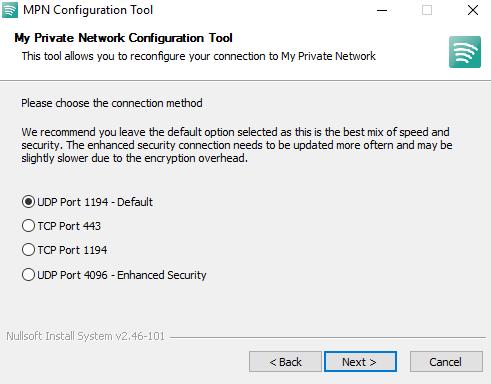 OpenVPN - AUTH_FAILED Error / Update My Private Network