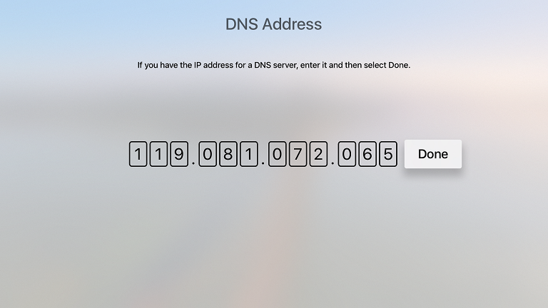 DNS Server Addresses