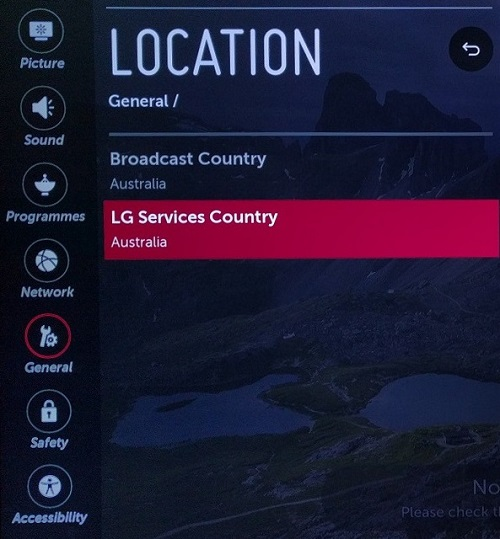 Changing LG Service Country Region on LG TV (WebOS) | My