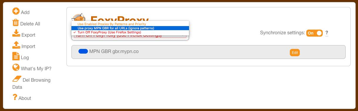 macOS - Using SOCKS5 | My Private Network | Global VPN