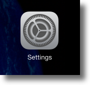 Entering iOS Settings