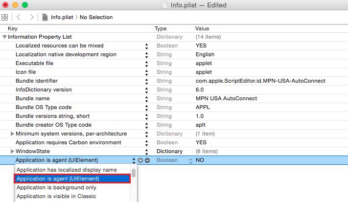 Mac OS X L2TP VPN Auto Start Xcode add value