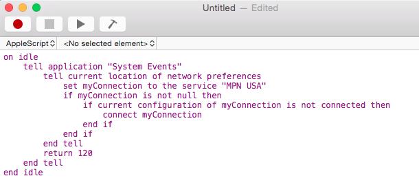 Mac OS X L2TP VPN Auto Start Script