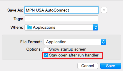Mac OS X PPTP VPN Auto Start Script Settings