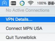 Mac OS X Tunnelblick VPN Details