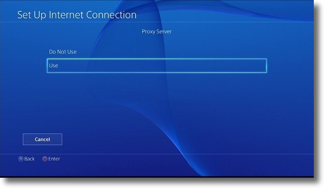 Configuring the PS4 to use a proxy server | My Private