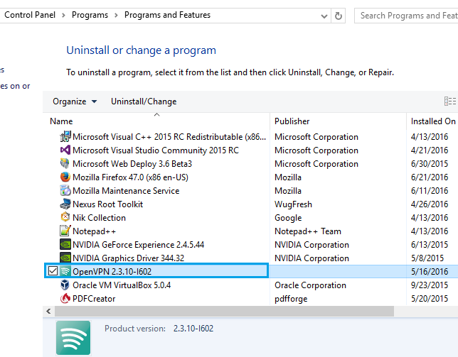 How to Uninstall OpenVPN application from Windows | My Private