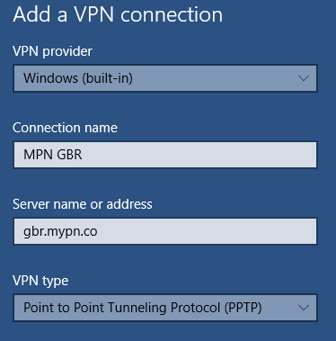 Windows 10 PPTP VPN setup | My Private Network | Global VPN
