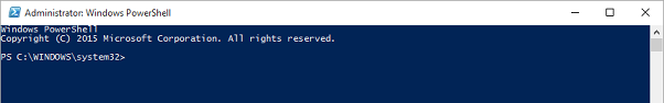 This is the main window for Windows PowerShell