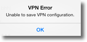 Apple iPad PPTP VPN error