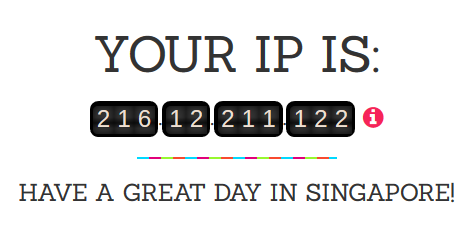 check your current IP Address