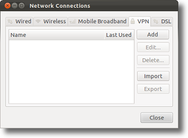 Ubuntu add VPN connection