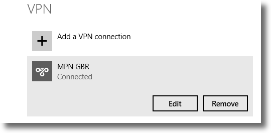 The VPN connection that you would like to edit