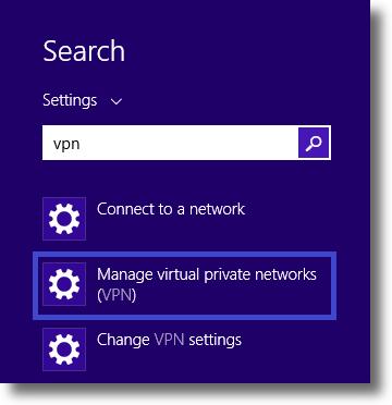 How to setup L2TP VPN on Windows 8.1