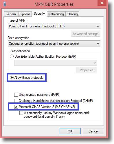 Windows 8 – PPTP VPN Setup Tutorial