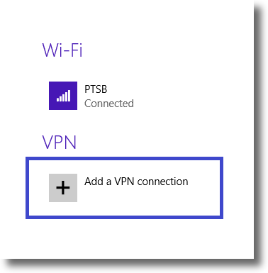 Windows 8.1 add VPN connection