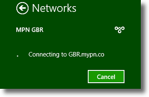 Windows 8 connecting to VPN server