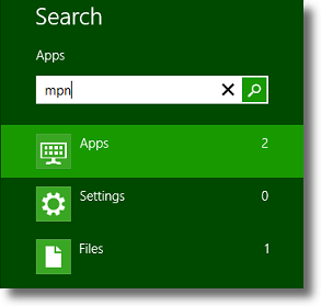 Windows 8.1 OpenVPN search for MPN