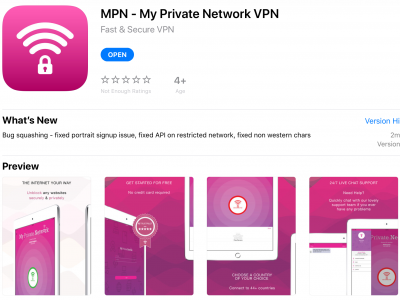 Apple iPad VPN Manager App