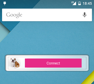 My Private Network Android VPN App Widget Connect status