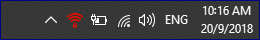 The taskbar that shows the MPN OpenVPN icon