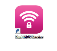 Start MPN Service desktop icon