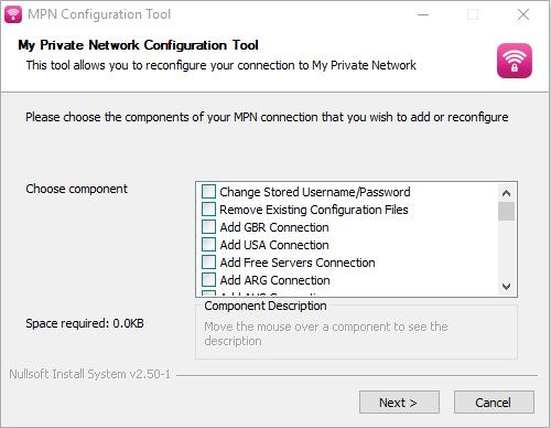 MPN Reconfiguration Tool