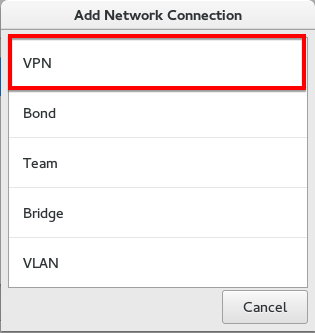 Fedora select VPN interface