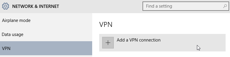 Windows 10 how to add VPN