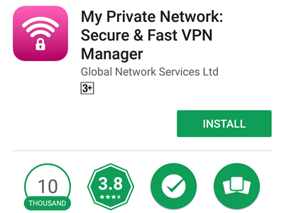 Android VPN Manager App on Tablet