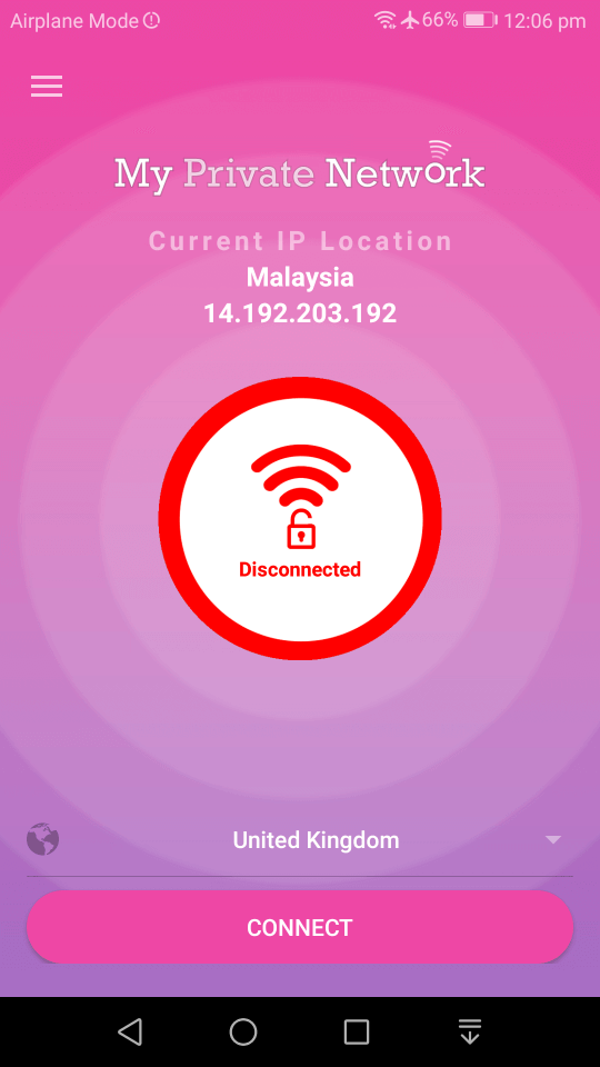 Android MPN VPN App Disconnected