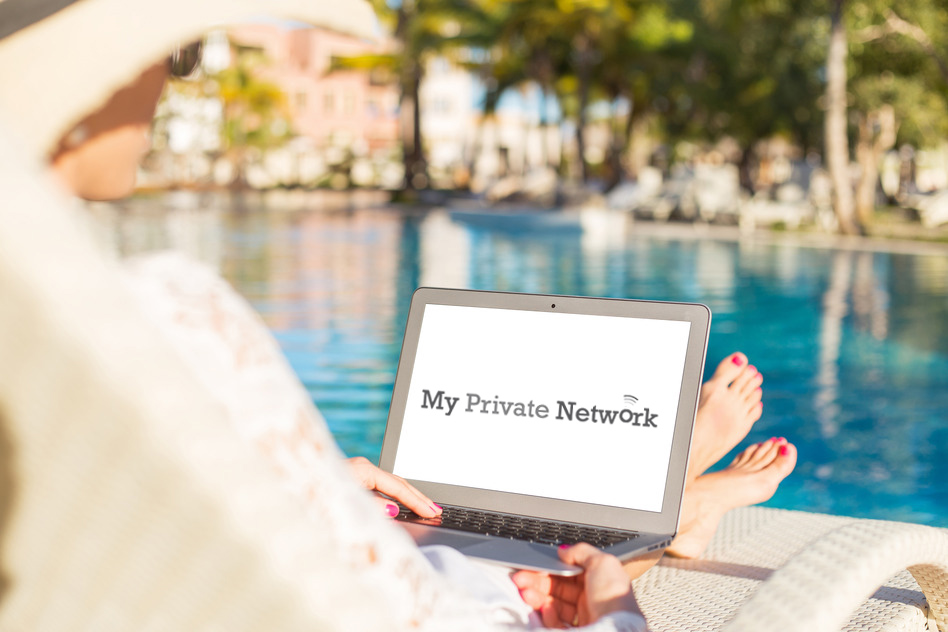 Women using VPN on vacation