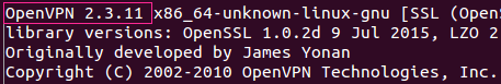 Ubuntu OpenVPN version