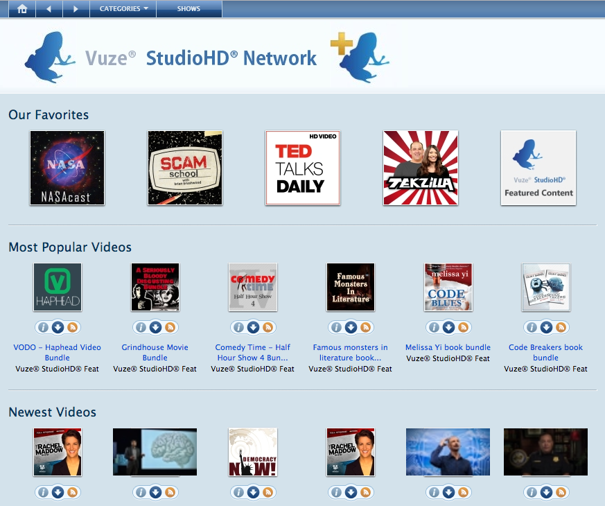 Vuze StudioHD Network