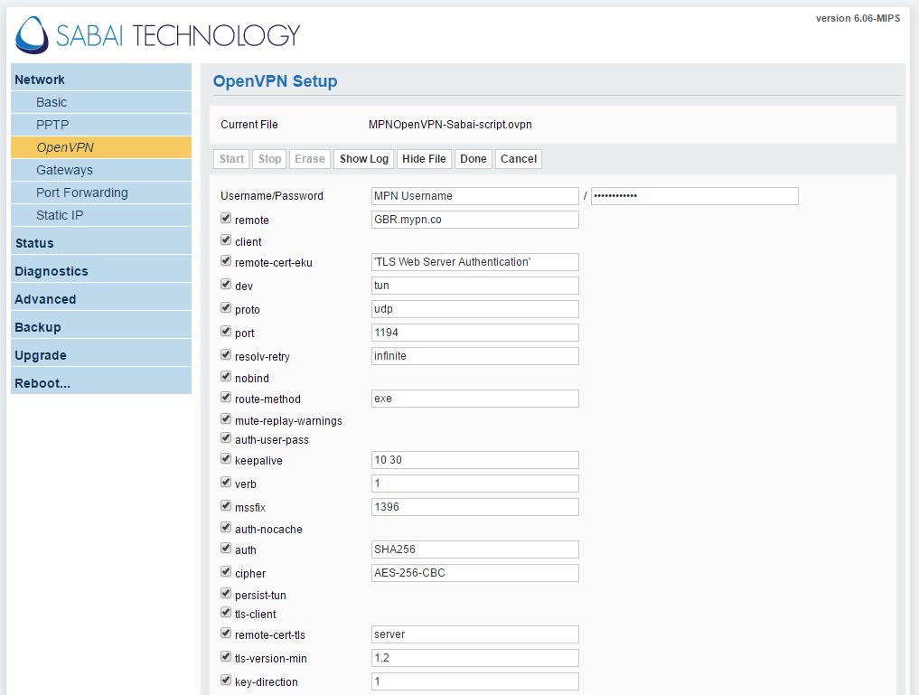 Sabai Router OpenVPN SSL Setup | My Private Network VPN