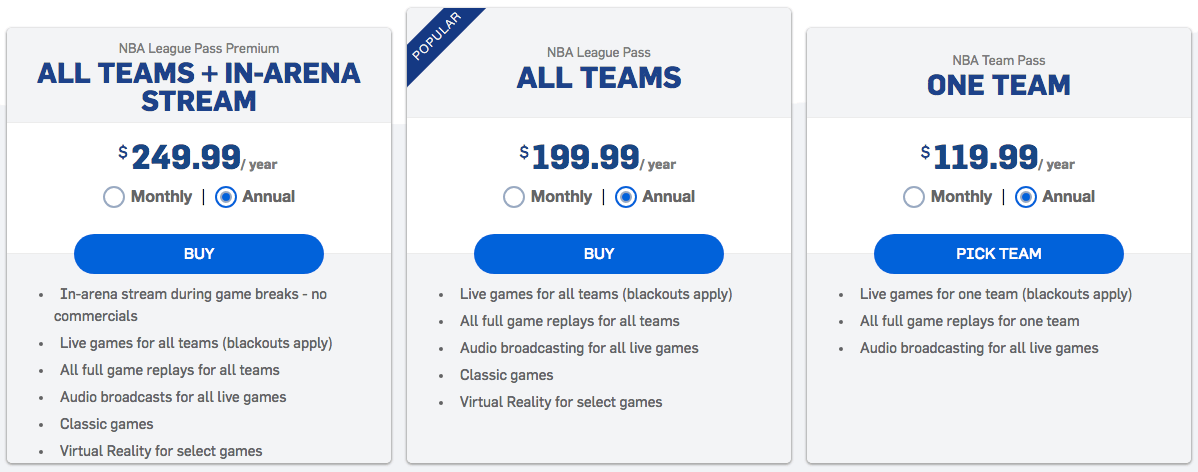 nba league pass apk mod