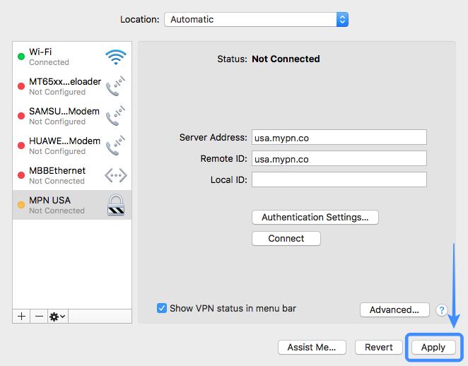 macOS IKEv2 VPN Setup | My Private Network VPN