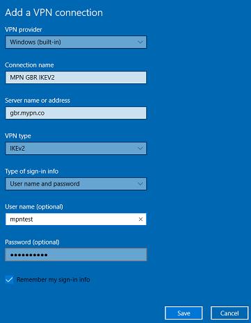 Windows 10 IKEv2 VPN Setup | My Private Network VPN