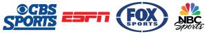CBS, ESPN, Fox, NBC