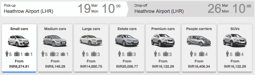 RentalCars India