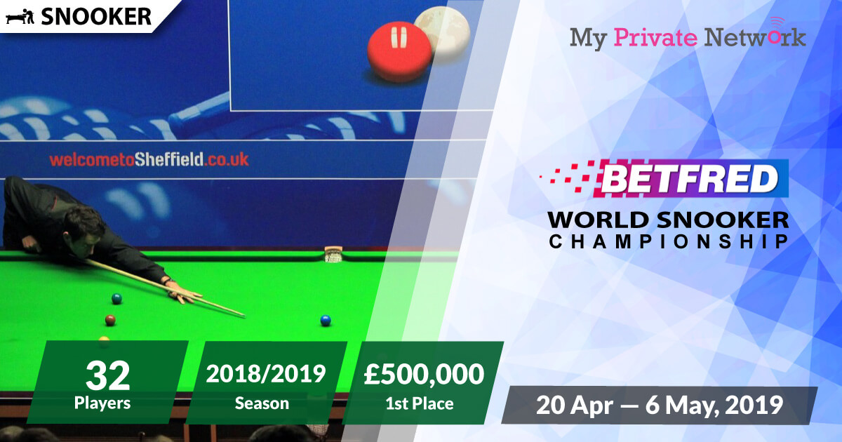 MPN Presents World Snooker Championship 2019