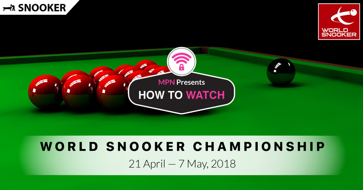 MPN Presents World Snooker Championship 2018