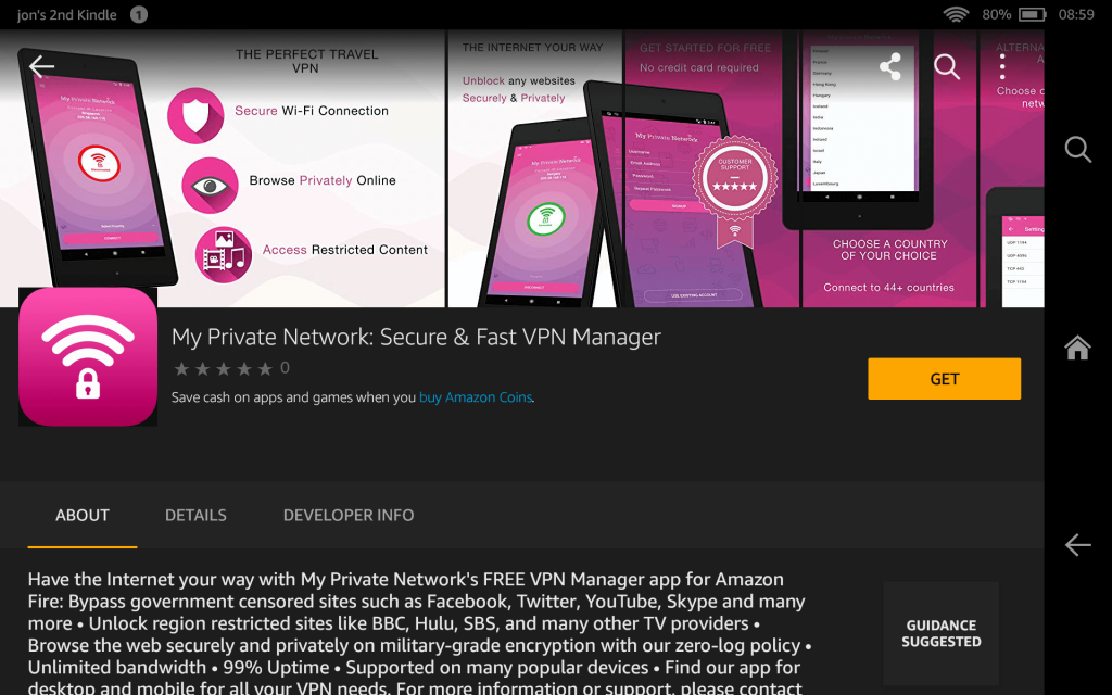 Amazon App Store: My Private Network